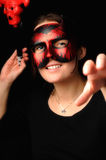 Woman as the devil. Royalty Free Stock Photos