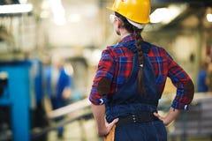 Woman as engineer Stock Photo
