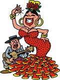 Woman as flamenco dancer Royalty Free Stock Photo