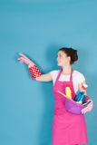 Woman as house wife Royalty Free Stock Images
