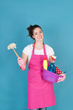 Woman as house wife Stock Photo