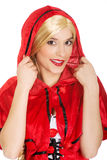 Woman as a Little Red Riding Hood. Royalty Free Stock Image