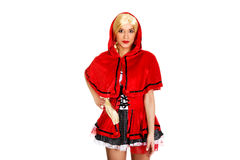 Woman as a Little Red Riding Hood. Stock Photography