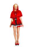 Woman as a Little Red Riding Hood. Royalty Free Stock Photos