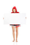Woman as a Little Red Riding Hood. Stock Photos