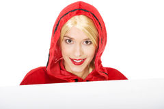 Woman as a Little Red Riding Hood. Royalty Free Stock Photography