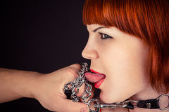 Woman as obedient slaves Royalty Free Stock Photo