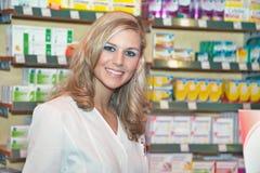Woman as a pharmacist Stock Photos