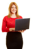 Woman as a programmer or webdesigner Stock Photography