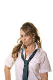 Woman as schoolgirl Royalty Free Stock Photography