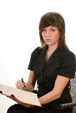 Woman as a secretary Royalty Free Stock Image