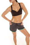 Woman asian black top body sweat Royalty Free Stock Photography
