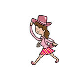 Woman Asian tourist cartoon Royalty Free Stock Photo