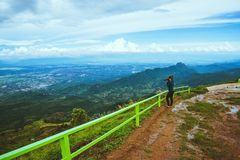 Woman asians travel relax in the holiday. Photograph landscape on the Moutain.Thailand. Woman asians travel relax in the holiday. Photograph landscape on the stock images