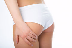 Woman ass with hand Royalty Free Stock Photography
