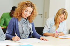 Woman in assessment center taking Stock Photography