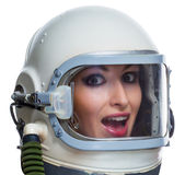 Woman astronaut Royalty Free Stock Image