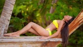 Woman At Resort Royalty Free Stock Images