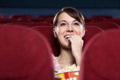 Free Woman At The Cinema Stock Photography - 25009982