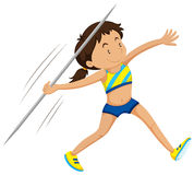Woman athlete doing javelin Royalty Free Stock Photo