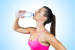 Woman athlete drink water Royalty Free Stock Images