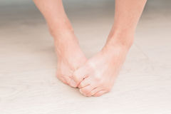 Woman athlete foot Stock Photography