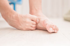 Woman athlete foot Royalty Free Stock Photography