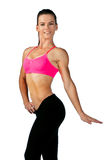 Woman athlete showing her figure Royalty Free Stock Images