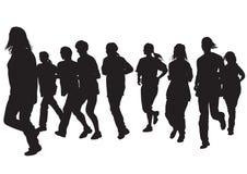 Run people eight Stock Photography