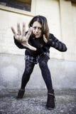 Woman attacking hand Stock Photos