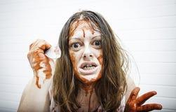 Woman attacks blood Stock Photos