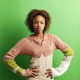 Woman with attitude stock photo