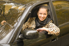 Woman in auto Royalty Free Stock Photography