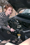 Woman auto mechanic Royalty Free Stock Photography