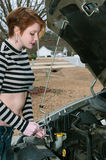 Woman auto mechanic Stock Image