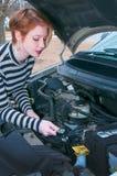 Woman auto mechanic Royalty Free Stock Image