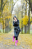 Woman in autum Royalty Free Stock Image