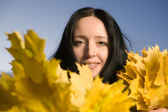 Woman at autumn Stock Image