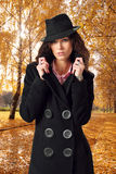 Woman and autumn Royalty Free Stock Photos