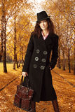 Woman and autumn Stock Image