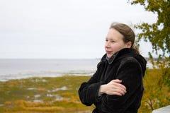 Woman and autumn Stock Photo