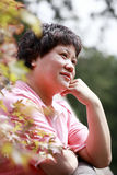 Woman in the autumn Royalty Free Stock Image