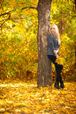 Woman and Autumn Stock Photos