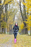 Woman in autumn Royalty Free Stock Photos