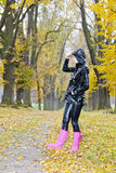 Woman in autumn Royalty Free Stock Images