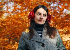Woman in Autumn. Royalty Free Stock Photography