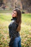 Woman in autumn Stock Photo