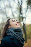 Woman in autumn coat Royalty Free Stock Images