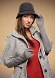 Woman in autumn color. Studio shoot Royalty Free Stock Photo