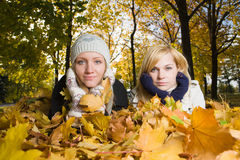 Woman at autumn park Stock Image